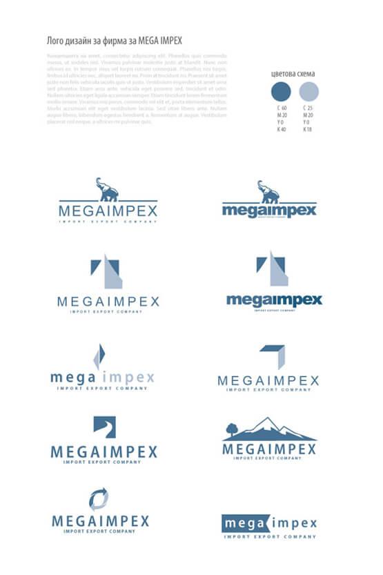 Бял фон, MegaImpex, лого и визитка